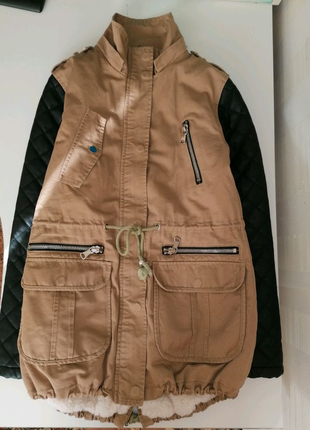 Куртка парка деми, холодная осень 42р XS Италия