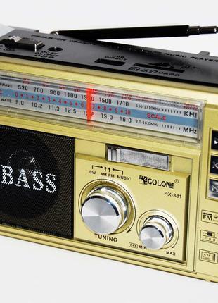 Радиоприёмник с фонариком и МР 3 GOLON RX-381