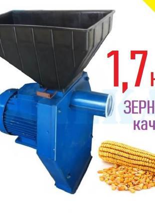 Зернодробилка Эликор 1 исп 3 (1,7 кВт, зерно, початки кукурузы)