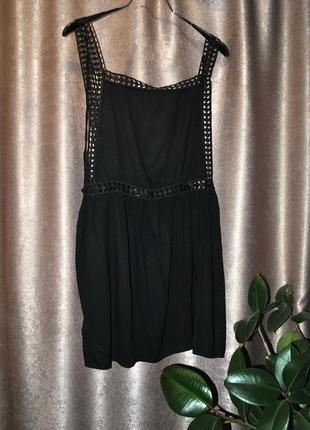 Платье эксклюзивное необычное оригинальное черное комбинезоном