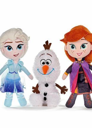 Мягкая игрушка Disney Frozen (Холодное сердце). Ельза, Анна, Олаф