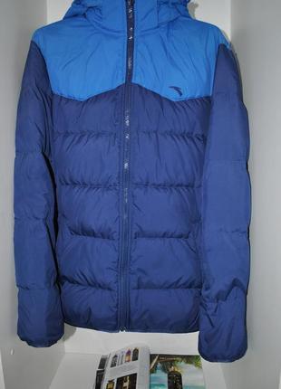 Anta мужской зимний теплый пуховик m-l синяя курка натуральный...