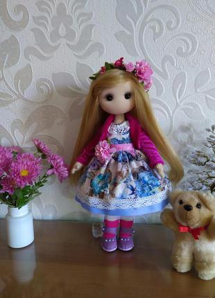 Кукла текстильная интерьерная Лаура