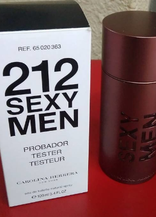 Carolina herrera 212 sexy men туалетная вода, тестер, 100 мл