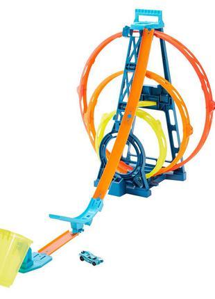 Трек Hot Wheels Unlimited Triple Loop Kit Потрійна петля