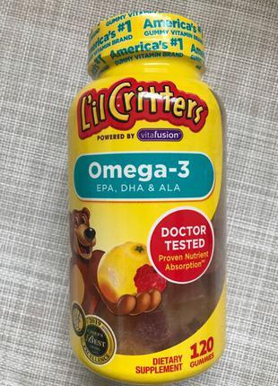 Lil Critters, Омега-3 для детей , омега3 , вкус малины и лимонада