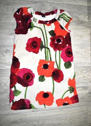 Платье gap 12-13 лет яркое шикарное нарядное маки рост 155 см