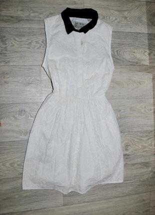 Платье jack wills s-m uk-10 крутое брендовое белое классика ажур