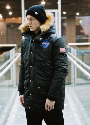 Куртка зимняя пуховик аляска nasa -25 градусов
