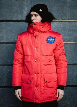 Куртка аляска пуховик зимний  nasa