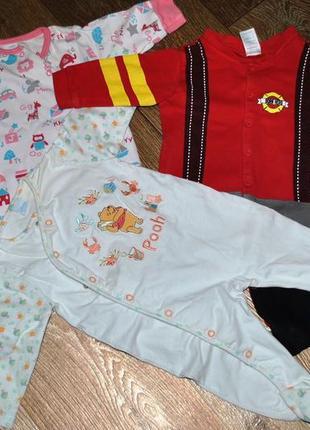 Продам человечки боди комбинезоны 3 шт пижама для грудничка 3-...