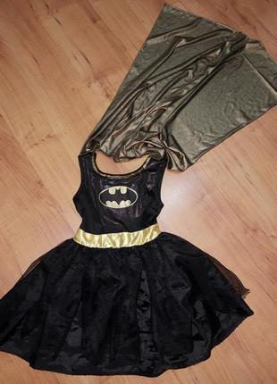Карнавальный костюм детский супергероини бэтмен/batman для дев...