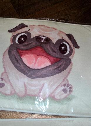 Продам коврики с изображением мопса в ванную комнату или туалет