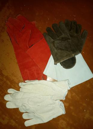 Рабочие краги и рукавицы, перчатки