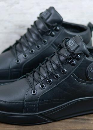 Мужские зимние кожаные ботинки Ugg