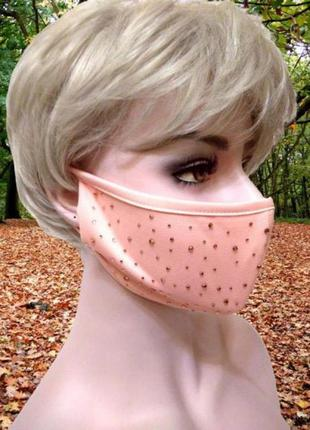 Пудровая маска с кристаллами