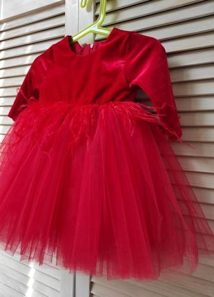 Нарядные платья с перьями