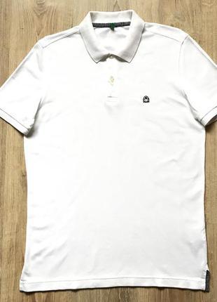Мужская хлопковая поло футболка united colours of benetton m