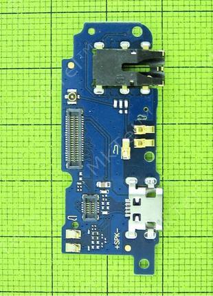 Нижняя плата MEIZU M5 с разъемом зарядки, с вибро, с микрофоном,