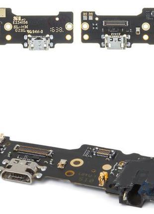 Нижняя плата Meizu M6 Note с разъемом зарядки, разъемом наушников