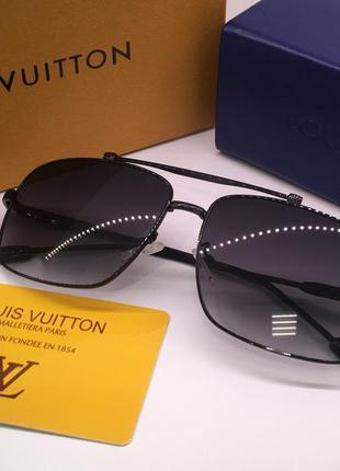 Мужские солнцезащитные очки черные линзы градиент louis vuitto...