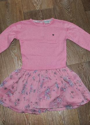 Платье next на девочку 3 – 4 лет шерсть розовое теплое зимнее ...