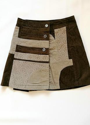 Стильная необычная вельветовая юбка desigual (к071)