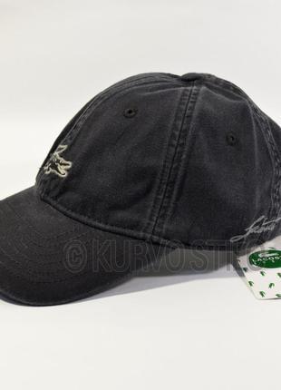 Мужская кепка (бейсболка) lacoste, цвет черный