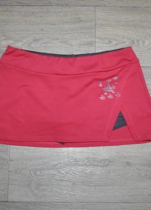 Юбка adidas теннисная для тенниса розовая xs s спортивная