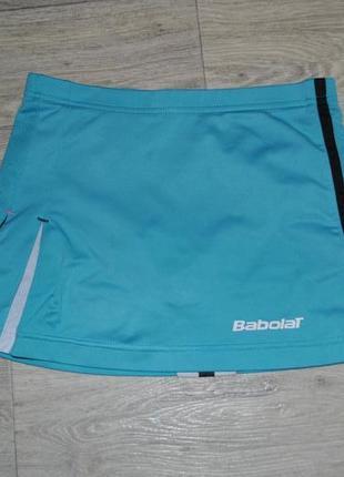 Юбка babolat теннисная для тенниса голубая xs s спортивная