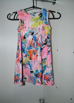Платье на девочку 6-7 лет рост 116-122 см яркое нежное летнее