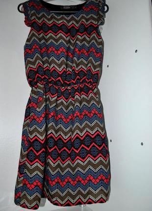 Платье jasmine 8 s летнее цветное стильное карманы яркое