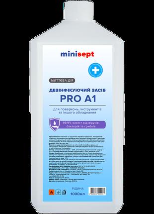 Дезінфікуючий засіб  MiniSept PRO-A1 спіртовий з кришкою 1000 ml