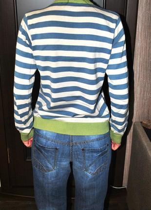 Свитер в полоску бело голубой, 44 м демисезонный