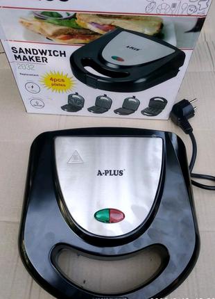 Сендвичница электрическая 4в1 A-Plus