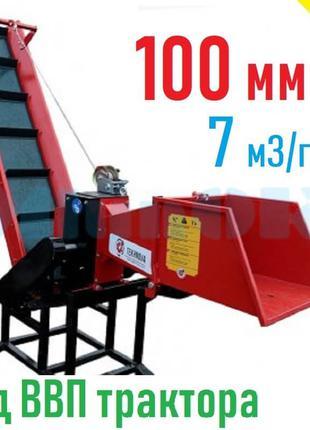 Измельчитель веток TN-100ТК от ВОМ трактора с конвейерной лентой
