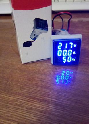Индикатор 3 в 1 вольтметр, амперметр, частотомер