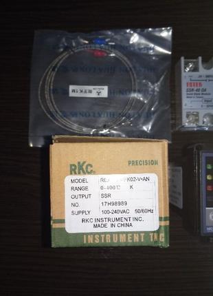 Терморегулятор Контроллер температуры (ПИД-контроллер) REX-C100