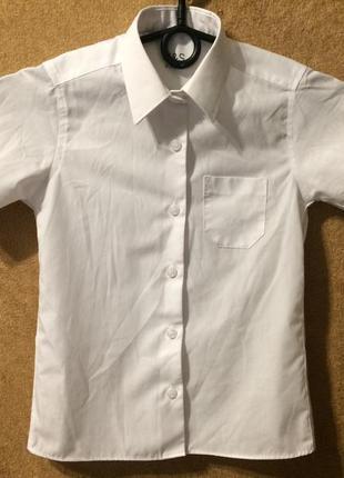 Marks & spencer m&s school школьная рубашка на 6-7 лет