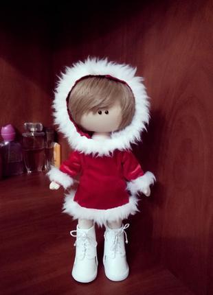 """Текстильная кукла ручной работы """"Новогодняя"""""""