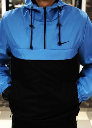 Анорак Nike черно-голубой