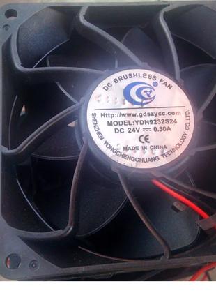 Вентилятор охлаждающий 24V DC 92х92х30 мм 0.35А Turbo