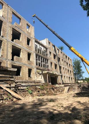 демонтаж зданий, снос домов, Демонтажные работы