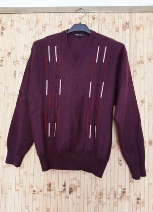 Шерстяной свитер джемпер шерсть