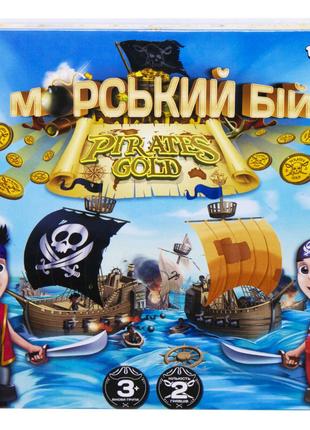 """Настольная развлекательная игра """"Морской бой. Pirates Gold"""""""