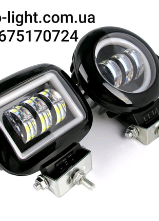 Фара-LED с линзой и  ободком  45W (15W*3) 10-30V