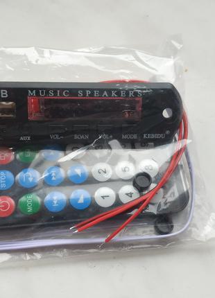 Bluetooth 5,0, mp3-плеер, декодер, цветной экран, FM-радио, TF