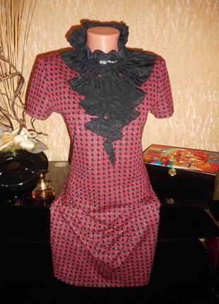 Платье в гусиную лапку