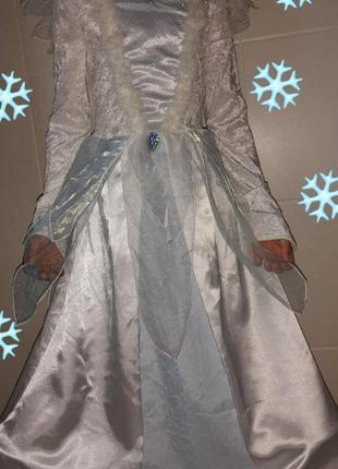 Карнавальный костюм платье снежной королевы/зима/принцесса эль...