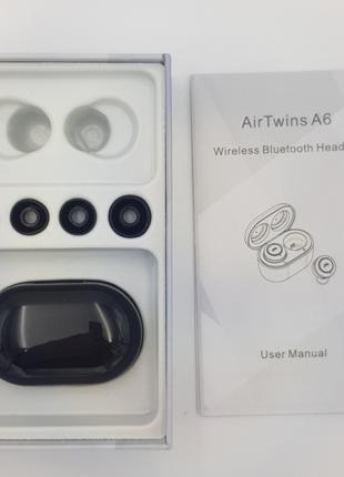 Беспроводные наушники Bluetooth 5.0 гарнитура Ukc AIR TWINS A6